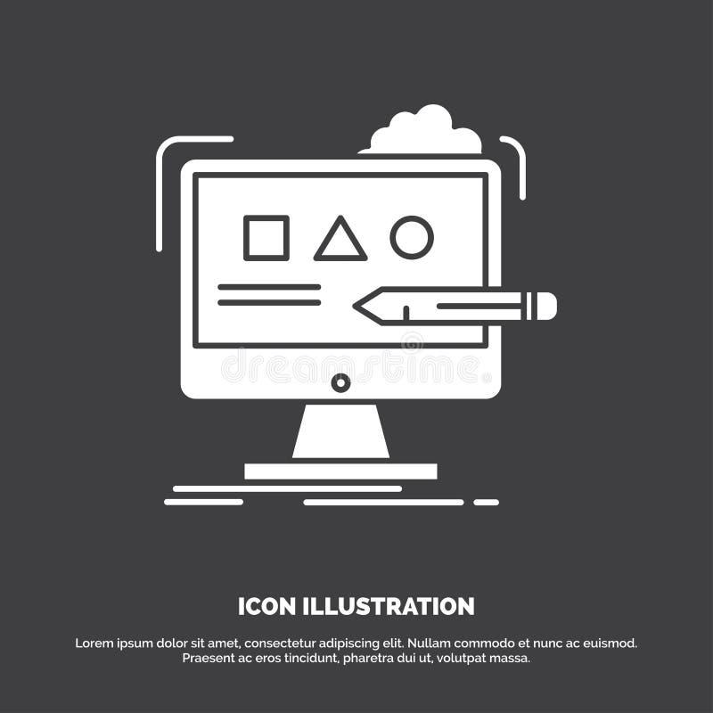 Τέχνη, υπολογιστής, σχέδιο, ψηφιακός, εικονίδιο στούντιο r ελεύθερη απεικόνιση δικαιώματος