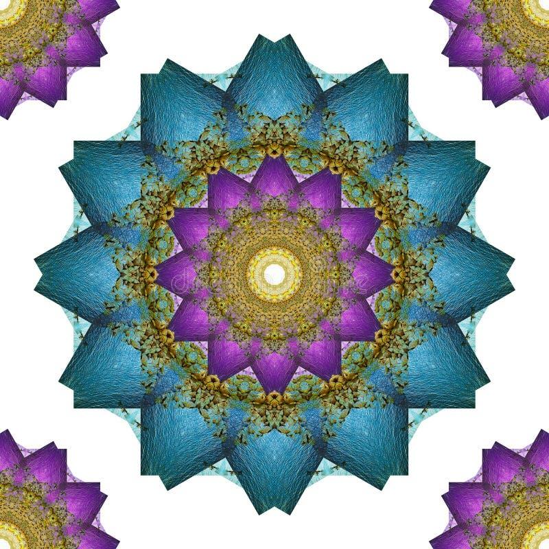 Τέχνη Mandala, άνευ ραφής αφηρημένο BA ταπετσαριών λουλουδιών καλειδοσκόπιων ελεύθερη απεικόνιση δικαιώματος