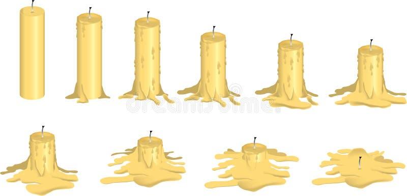 τήξη κεριών διανυσματική απεικόνιση