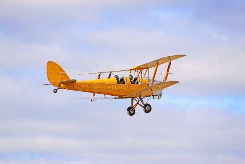 τίγρη αεροπλάνων σκώρων βισμουθίου του 1942 dh82 κίτρινη στοκ φωτογραφίες με δικαίωμα ελεύθερης χρήσης