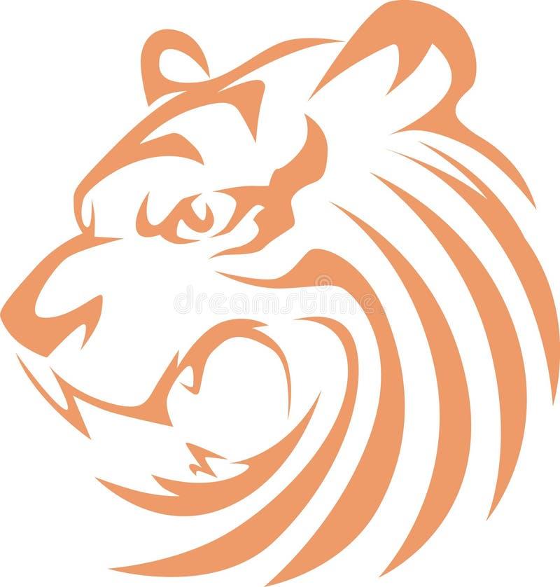 τίγρη θροισμάτων ύφους διανυσματική απεικόνιση