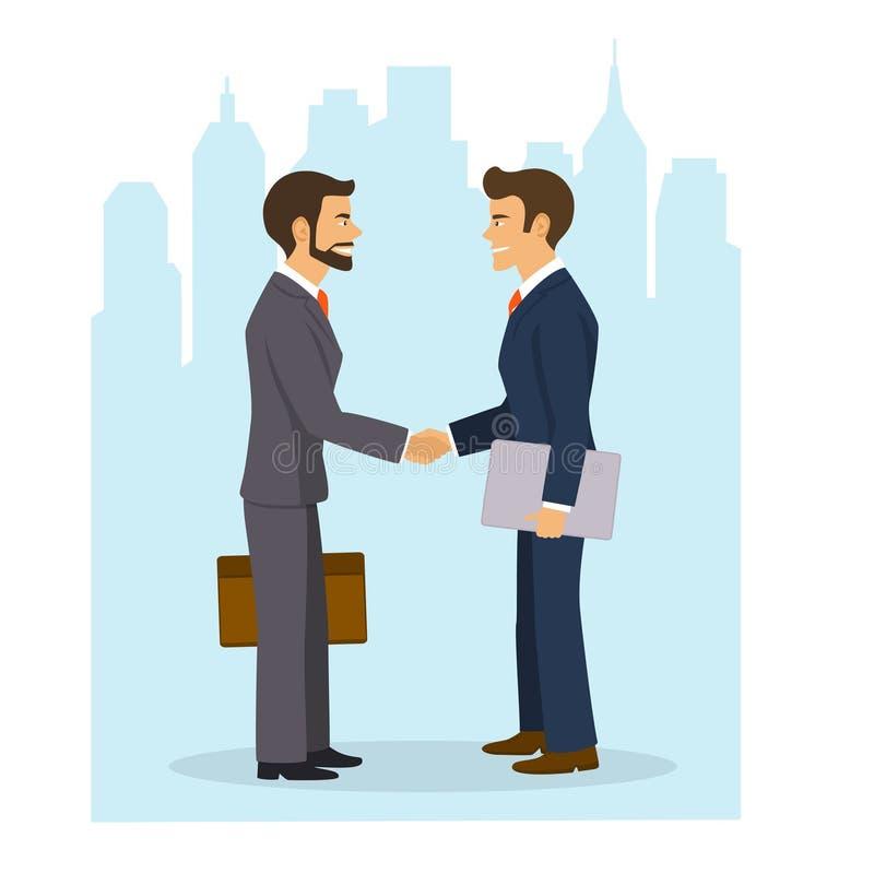 τίναγμα χεριών επιχειρημα&ta έννοια επιχειρησιακής συνεργασίας ελεύθερη απεικόνιση δικαιώματος