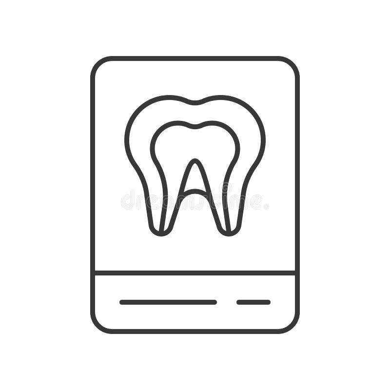 Ταινία ακτίνας X της ανατομίας δοντιών, εικονίδιο περιλήψεων ελεύθερη απεικόνιση δικαιώματος