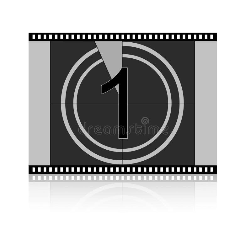 ταινία αντίστροφης μέτρηση&sigm απεικόνιση αποθεμάτων