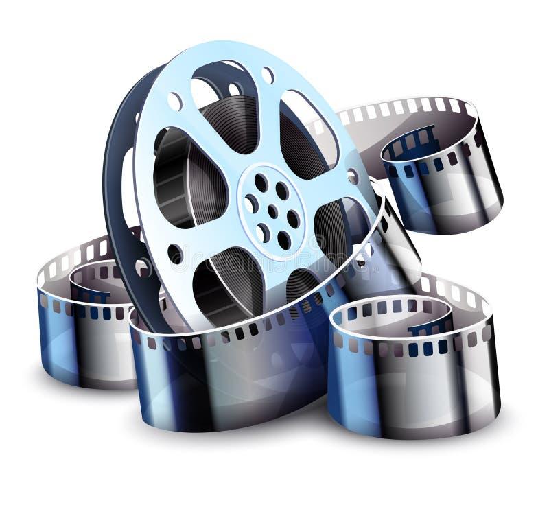 Ταινία-λουρίδα για την παραγωγή κινηματογραφικών ταινιών κινηματογράφων r διανυσματική απεικόνιση