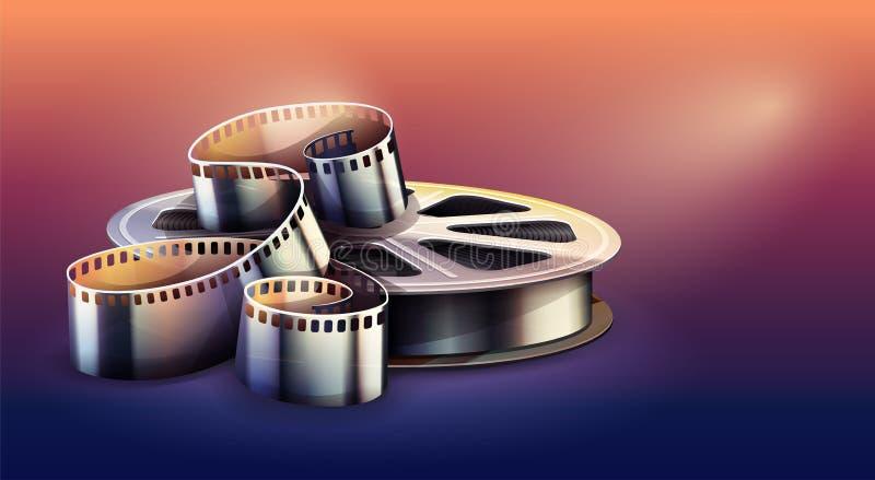 Ταινία-λουρίδα για την παραγωγή κινηματογραφικών ταινιών κινηματογράφων r απεικόνιση αποθεμάτων