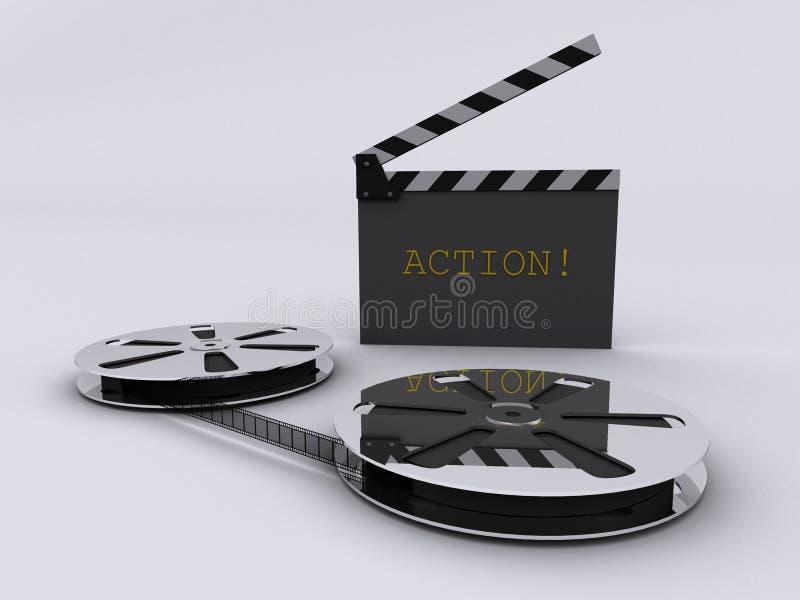 Ταινία λουρίδων και clapperboard στοκ εικόνες