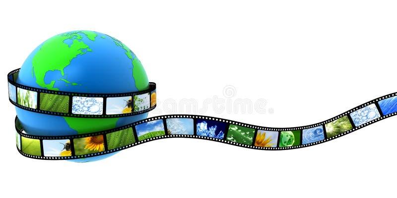 ταινία που τυλίγεται γήιν ελεύθερη απεικόνιση δικαιώματος