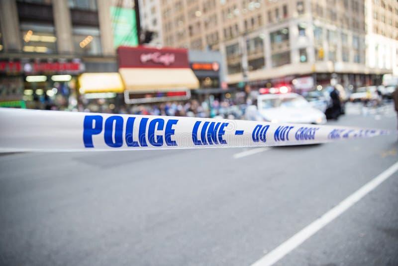 Ταινία σκηνών εγκλήματος στοκ εικόνες