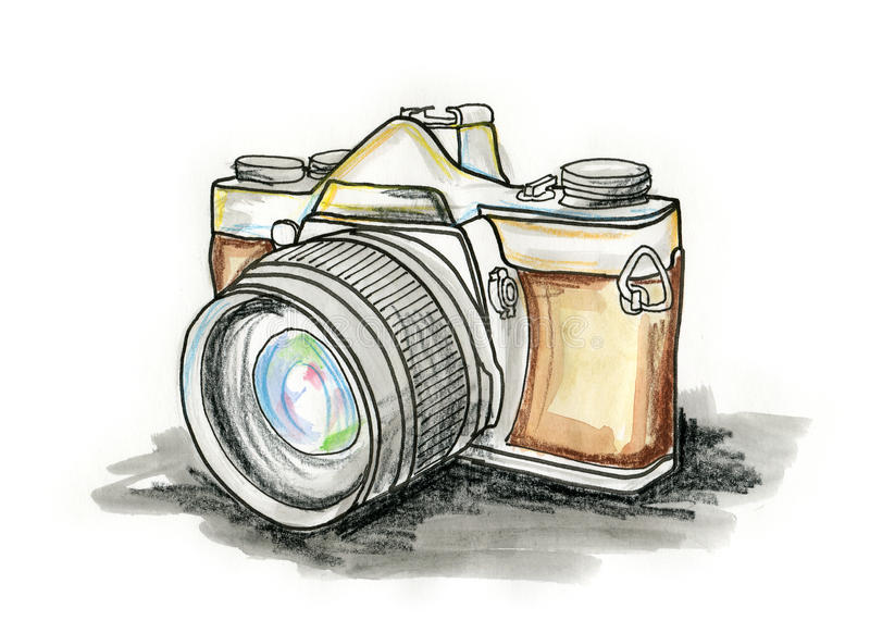 ταινία φωτογραφικών μηχανών απεικόνιση αποθεμάτων