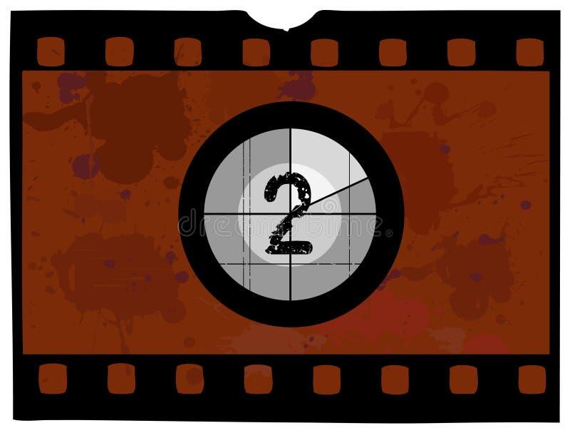 ταινία 2 αντίστροφης μέτρηση&si απεικόνιση αποθεμάτων