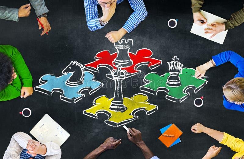 Τακτική Con αναψυχής ψυχαγωγίας ελεύθερου χρόνου στρατηγικής παιχνιδιών σκακιού στοκ φωτογραφίες