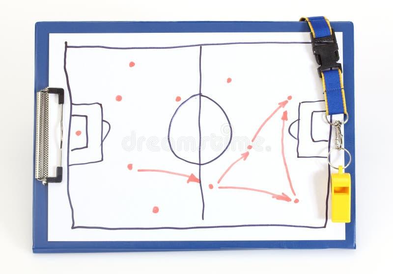 Τακτικό σχέδιο ποδοσφαίρου στοκ φωτογραφία με δικαίωμα ελεύθερης χρήσης