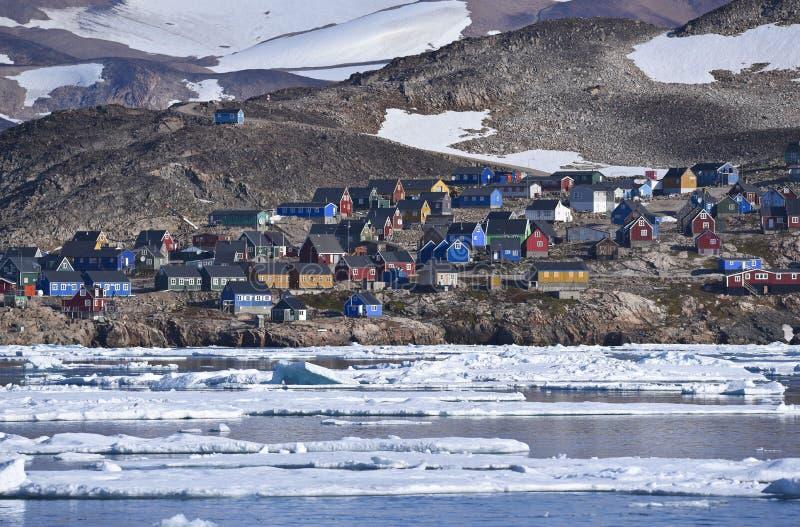 Τακτοποίηση του itoqqortoomiit στην ανατολική Γροιλανδία στοκ εικόνες με δικαίωμα ελεύθερης χρήσης