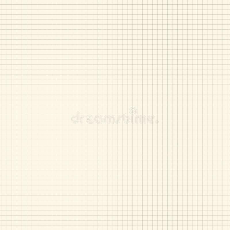 Τακτοποιημένος, κίτρινο έγγραφο μαθηματικών πλέγματος Υπόβαθρο για το σχολείο ελεύθερη απεικόνιση δικαιώματος