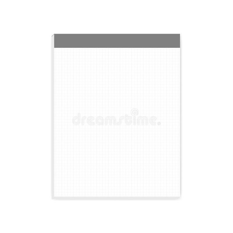 Τακτοποιημένος φραγμός εγγράφου σημειώσεων με το δάκρυ από το μέγεθος επιστολών φύλλων, πρότυπο διανυσματική απεικόνιση