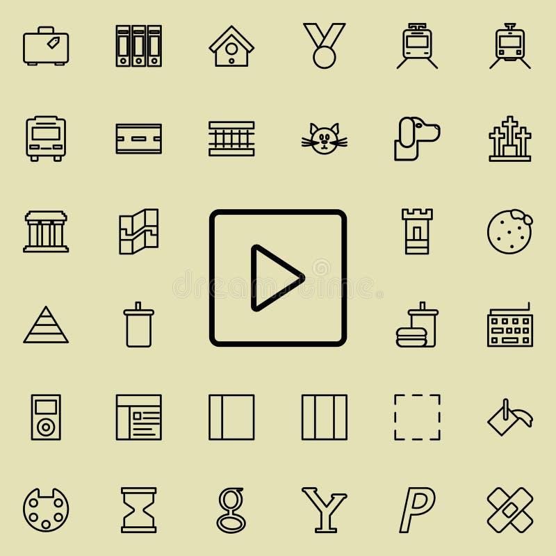 τακτοποιημένο παιχνίδι εικονίδιο Λεπτομερές σύνολο minimalistic εικονιδίων γραμμών Γραφικό σχέδιο ασφαλίστρου Ένα από τα εικονίδι απεικόνιση αποθεμάτων