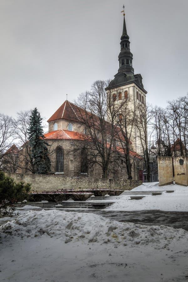Ταλίν, Εσθονία, 6, τον Ιανουάριο του 2019: Εκκλησία Niguliste Χειμώνας Ταλίν στοκ φωτογραφία με δικαίωμα ελεύθερης χρήσης