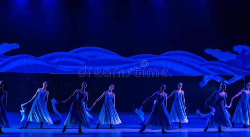 Ταλαντεμένος φύκι-μπλε χορός ` κύμα-Huang Mingliang ` s θάλασσας κανένα καταφύγιο ` στοκ εικόνες με δικαίωμα ελεύθερης χρήσης
