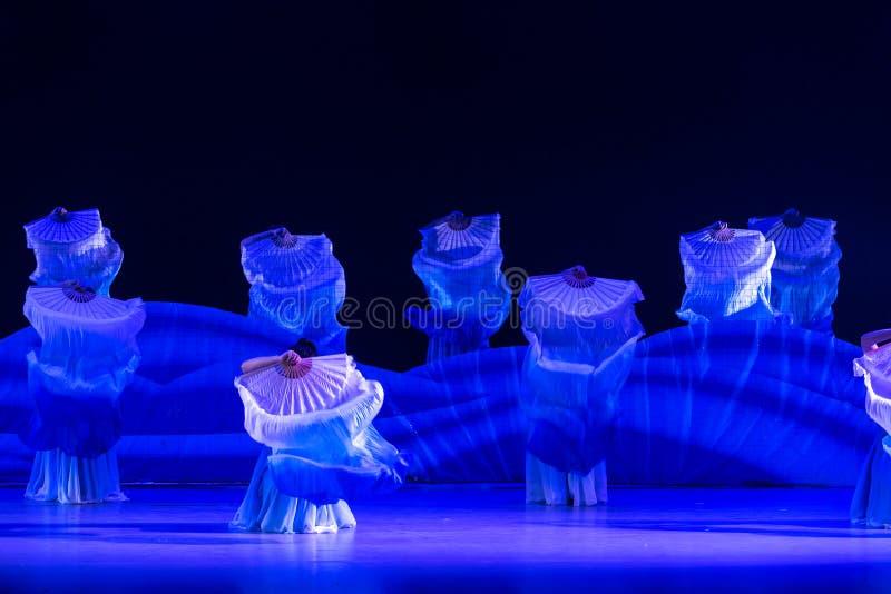 Ταλαντεμένος φύκι-μπλε χορός ` κύμα-Huang Mingliang ` s θάλασσας κανένα καταφύγιο ` στοκ εικόνες