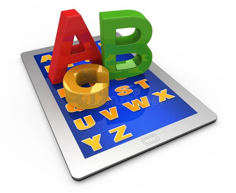 ταμπλέτα υπολογιστών αλφάβητου διανυσματική απεικόνιση