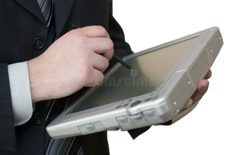 ταμπλέτα PC ατόμων χεριών στοκ εικόνες
