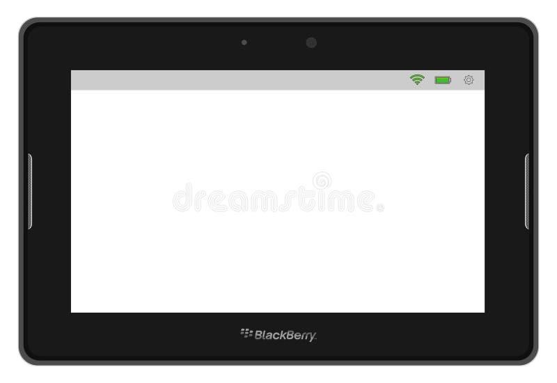 ταμπλέτα PC βατόμουρων playbook διανυσματική απεικόνιση
