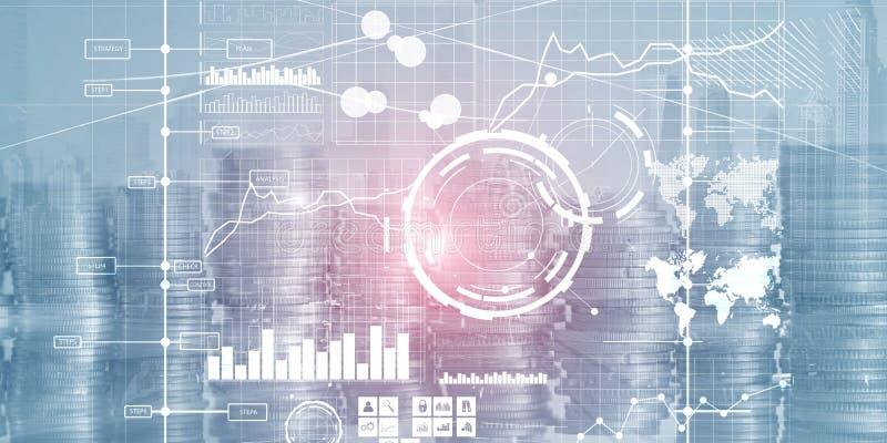 Ταμπλό και διαγράμματα νοημοσύνης διεπαφών επίδειξης Οικονομικοί βασικοί δείκτες απόδοσης στοκ εικόνες με δικαίωμα ελεύθερης χρήσης