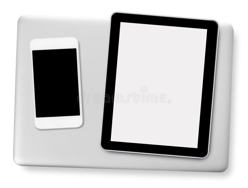 Ταμπλέτα, κινητά τηλέφωνο και lap-top στοκ φωτογραφίες με δικαίωμα ελεύθερης χρήσης