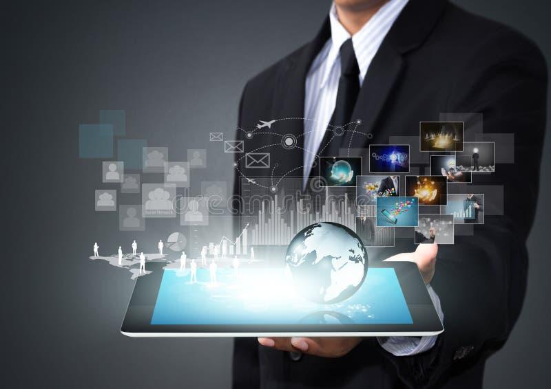 Ταμπλέτα οθόνης αφής με τη νέα τεχνολογία στοκ φωτογραφία με δικαίωμα ελεύθερης χρήσης