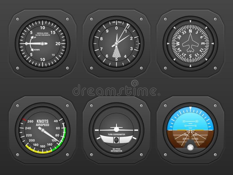 Ταμπλό αεροπλάνων διανυσματική απεικόνιση
