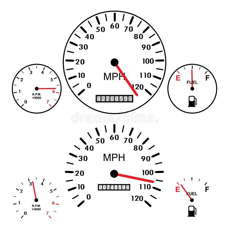 Ταμπλό αυτοκινήτων διανυσματική απεικόνιση
