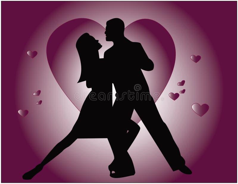 τανγκό αγάπης διανυσματική απεικόνιση