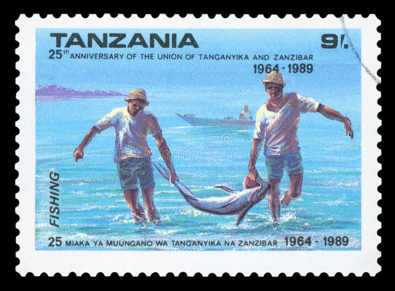 ΤΑΝΖΑΝΙΑ - Γραμματόσημο στοκ φωτογραφία