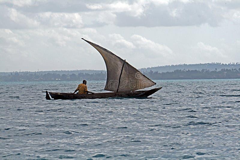 Τανζανική βάρκα στοκ φωτογραφίες