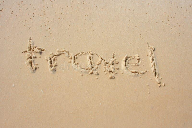 ταξίδι άμμου στοκ φωτογραφία