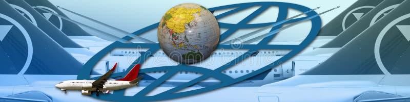 ταξίδι αεροπλάνων εμβλημά&ta απεικόνιση αποθεμάτων