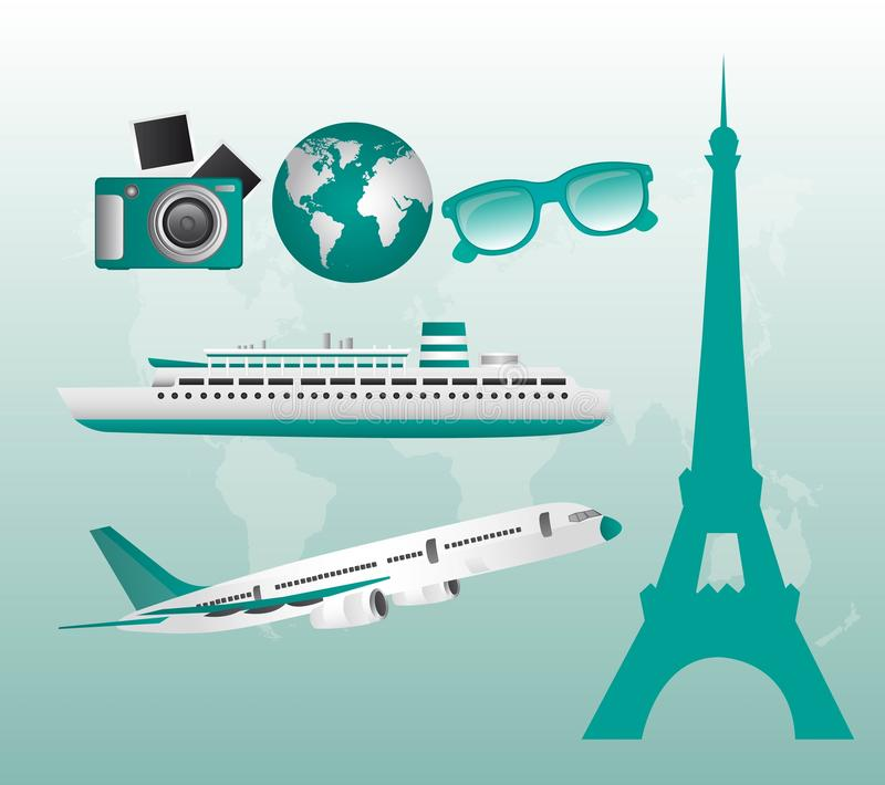 Download ταξίδι απεικόνισης διανυσματική απεικόνιση. εικονογραφία από χρονοδιάγραμμα - 22778744