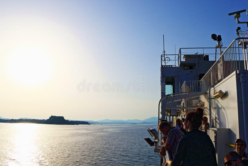 Ταξίδι βαρκών στην Κέρκυρα Ελλάδα στοκ εικόνες με δικαίωμα ελεύθερης χρήσης