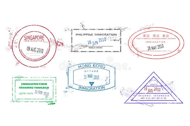 ταξίδι γραμματοσήμων ελεύθερη απεικόνιση δικαιώματος