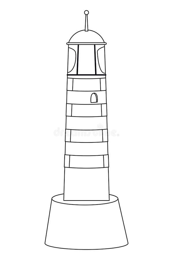 Ταξίδι θάλασσας φάρων Shoreside γραπτό διανυσματική απεικόνιση