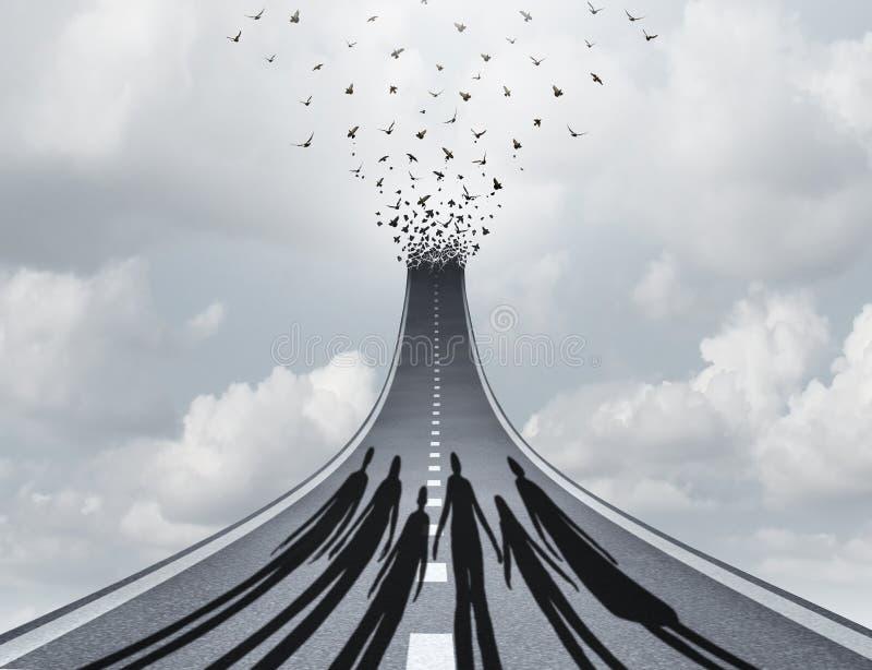 Ταξίδι κοινωνίας στην επιτυχία διανυσματική απεικόνιση