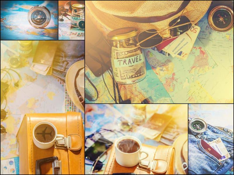 Ταξίδι κολάζ Καλός στοκ φωτογραφίες με δικαίωμα ελεύθερης χρήσης