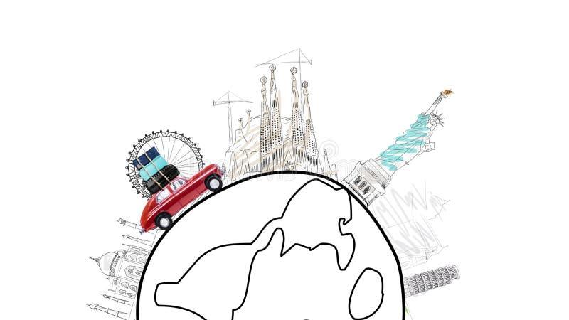 Ταξίδι με το αυτοκίνητο απεικόνιση αποθεμάτων