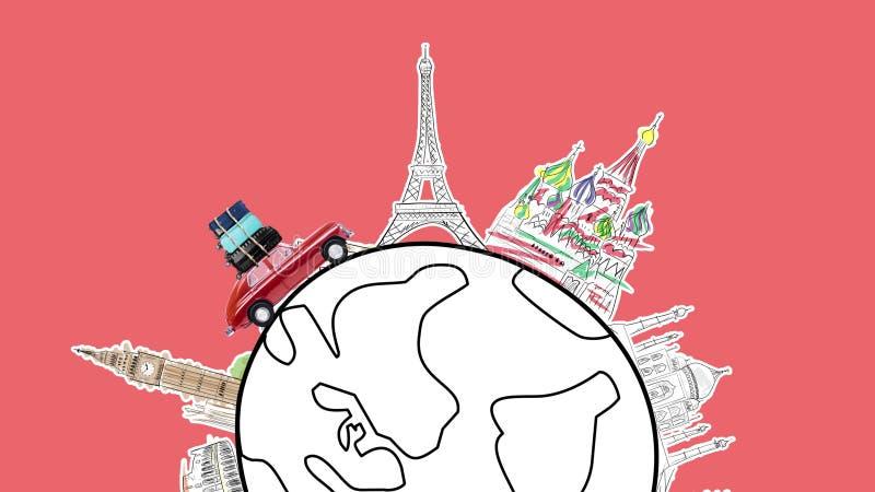 Ταξίδι με το αυτοκίνητο ελεύθερη απεικόνιση δικαιώματος
