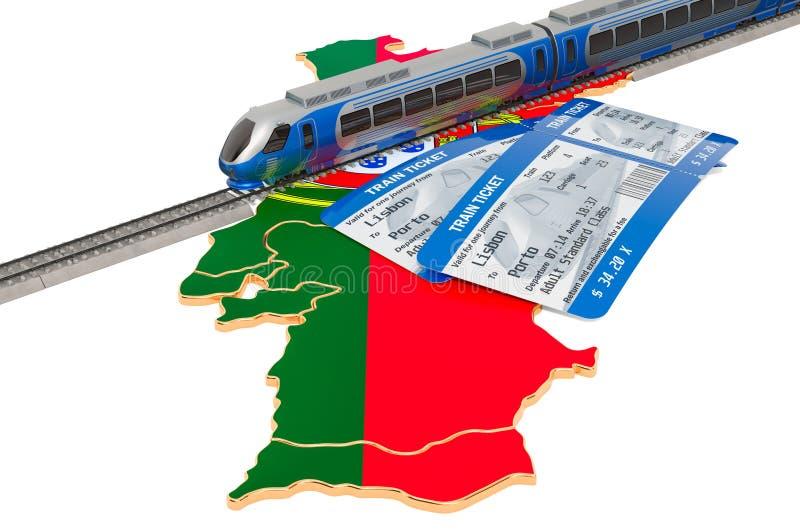Ταξίδι με τραίνο στην Πορτογαλία, έννοια r ελεύθερη απεικόνιση δικαιώματος