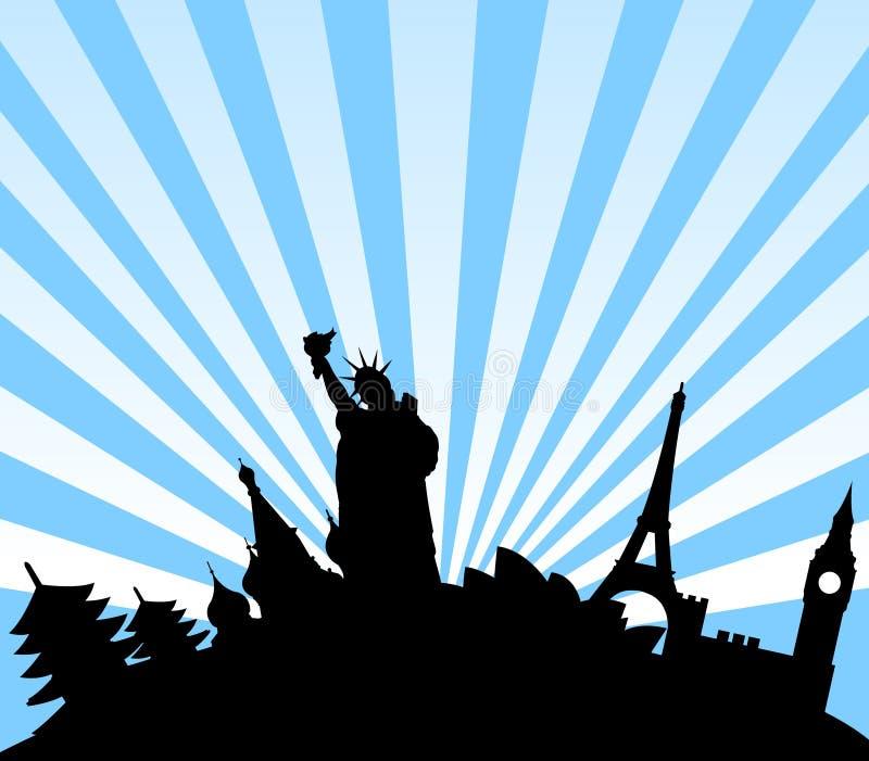 ταξίδι προορισμών ανασκόπησης ελεύθερη απεικόνιση δικαιώματος