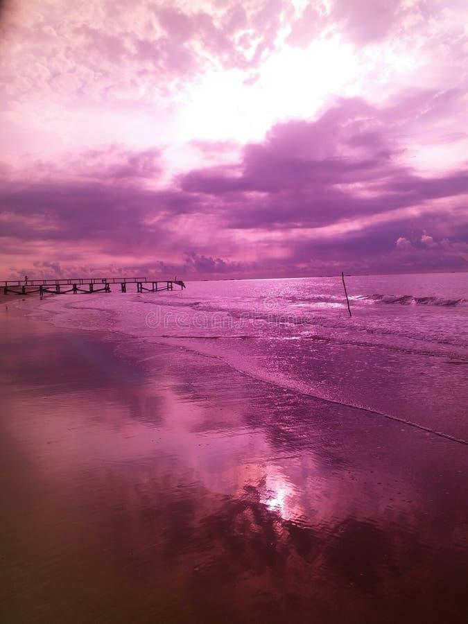 Ταξίδι στην παραλία Angsana, νότος Kalimantan, wonderfule Ινδονησία στοκ φωτογραφία με δικαίωμα ελεύθερης χρήσης