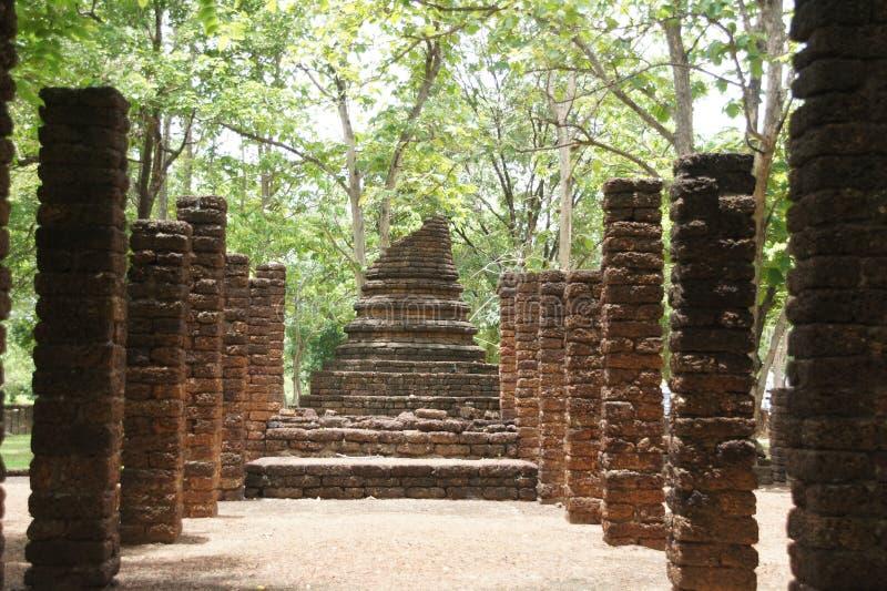 Ταξίδι στο ιστορικό πάρκο Σατανά, σουχοτάι, ταϊλάνδη στοκ εικόνα με δικαίωμα ελεύθερης χρήσης