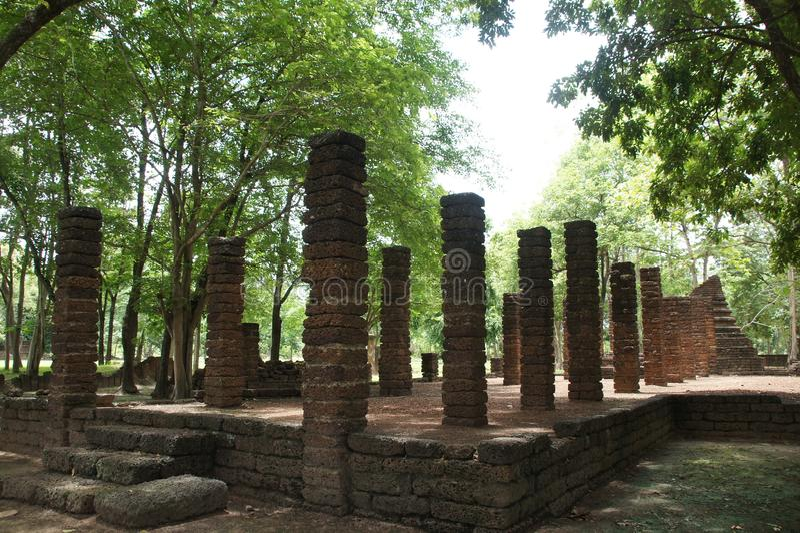 Ταξίδι στο ιστορικό πάρκο Σατανά, σουχοτάι, ταϊλάνδη στοκ φωτογραφίες